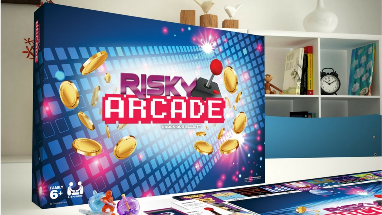Play arcade games on the board, win tickets and race to the gift shop! Take risks, battle other players and collect all 3 prizes to Win