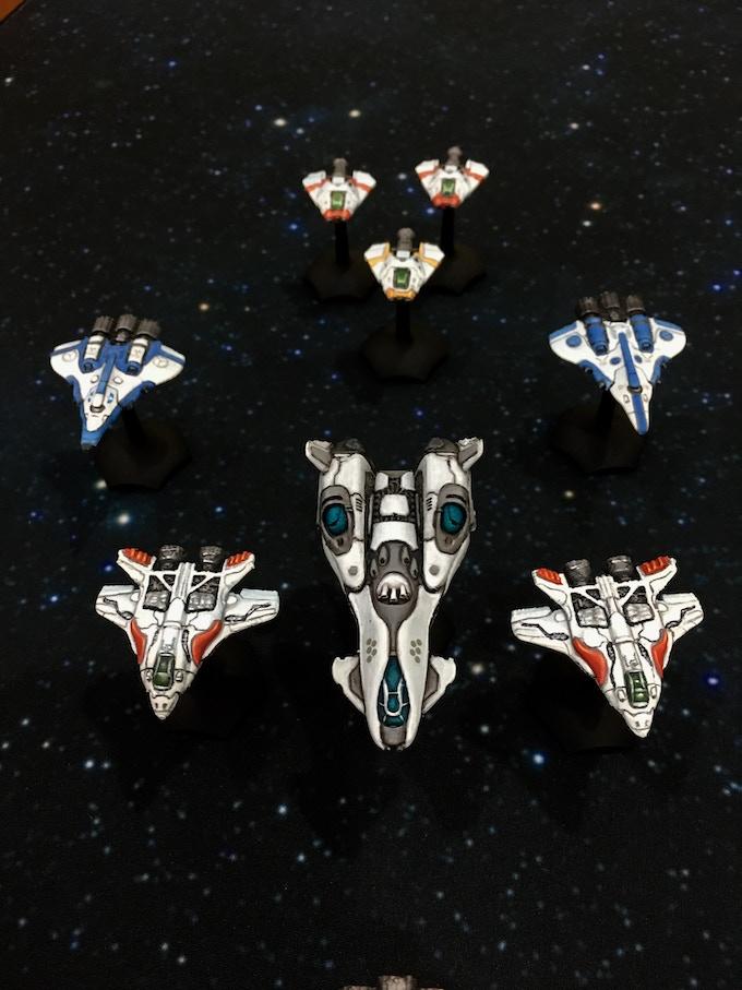 ConStar fighter formation