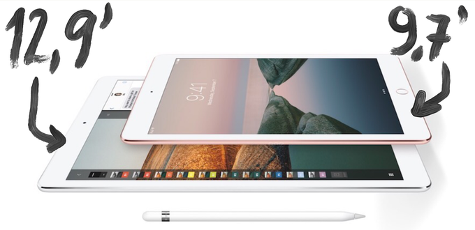 Compatible with both iPad Pro models: the bigger (12,9') and the smaller one (9,7')