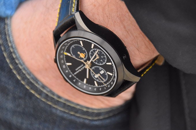 ZK No.1 - Black Moon ETA Valjoux 7751 (TOP) Chronograph with Moon Phase and Full Calendar, 10 ATM, 41 mm Black PVD Case