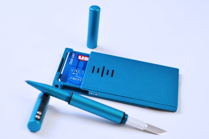 Blue Expedition Wallet and matching Utility Pen!