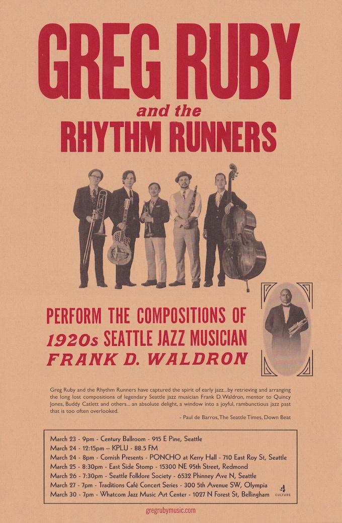 Rhythm Runners letterpress poster