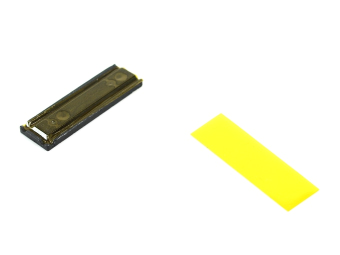 Precut polyimide tape will be provided with each PCBGRIP Vise, to be applied to the vise face where electrical isolation is required.