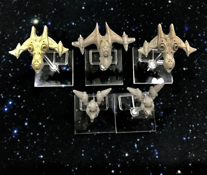 S'Sekai resin models with clear acrylic base