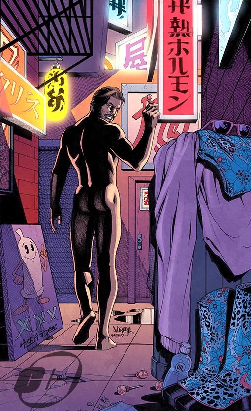 """Joey Ryan No More"" Spider-man tribute cover! Jose Varese (Artist on the ""Lucha Underground: Vampiro & Pentagon Jr"" Comic) Colorist Doug Garbark (""Lucha Underground Comics: Rey Mysterio & Dario Cueto"" and Boom! Studios ""WWE Comics"")!"
