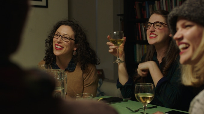"""A still from """"Cheers,"""" which will be premiering at the Women in Comedy Festival on April 22nd."""