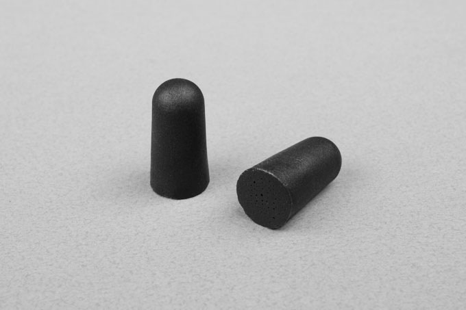 Manta earplugs are made with memory foam to block out sound.
