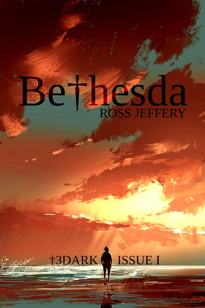 The cover of our first issue of 13Dark for Ross Jeffery's story 'Bethesda' which will be sent out in May.