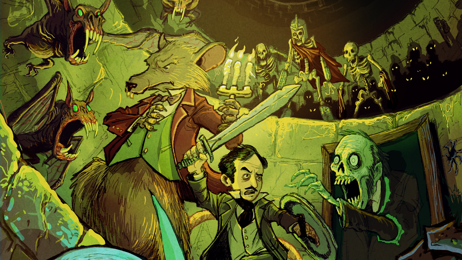 The first issue of an epic fantasy adventure through a nightmare world of mythological gods and monsters inside Edgar Allan Poe's head!