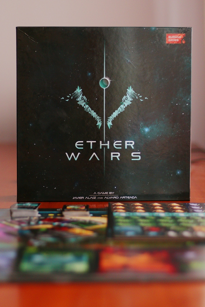 Sci-fi custom-dice game of strategic worker placement, resource management, area control, and asymmetric player powers.