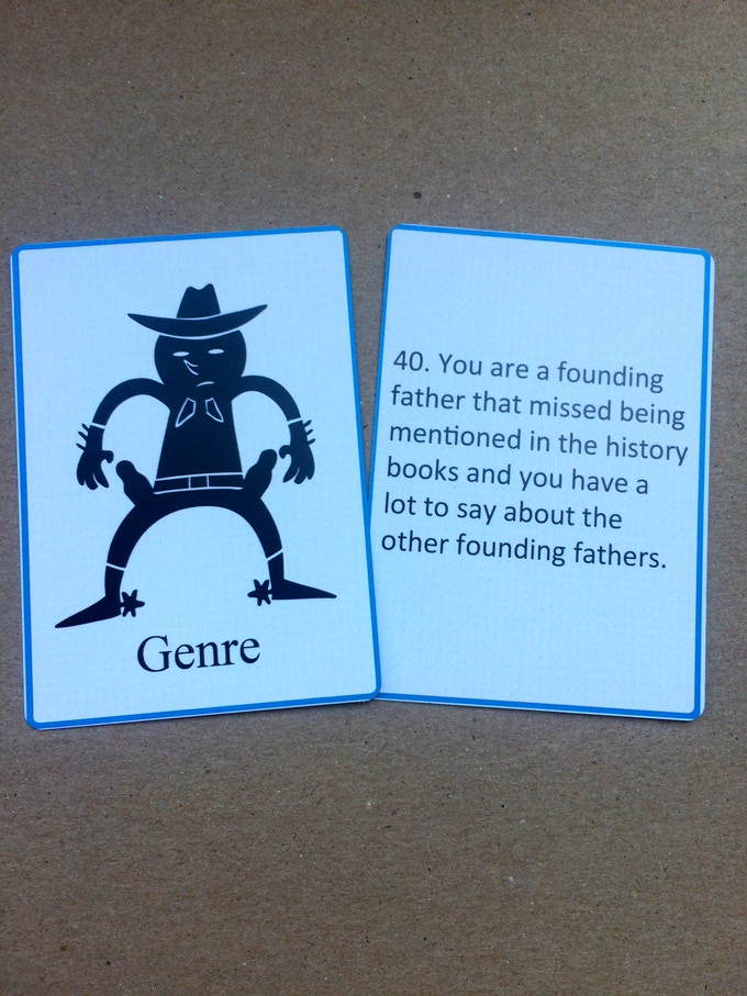 Genre Card - travel through time, space & movies.