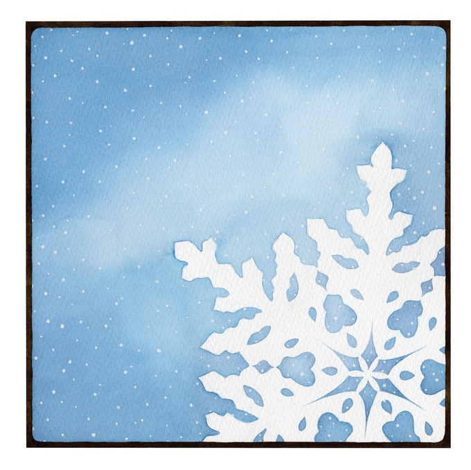 """Snowflakes"" illustration"