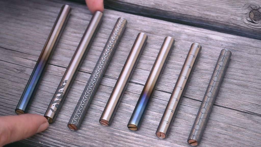 "Titanium ""EDC Ink"" Pocket & Keychain Pens project video thumbnail"