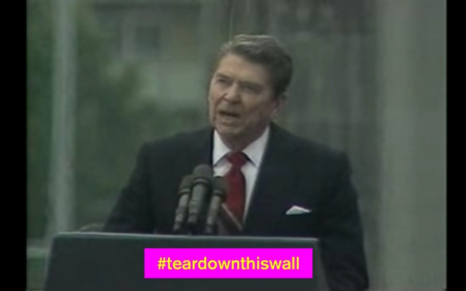 30 years ago Ronald Reagan told the world and Mr Gorbachev to 'Tear down this wall!'