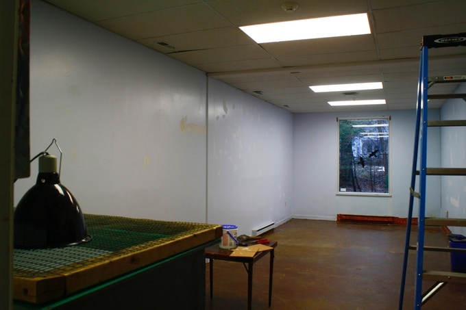 """Before"" picture of the mural's space"