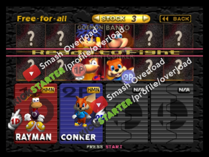 Fighters selection menu