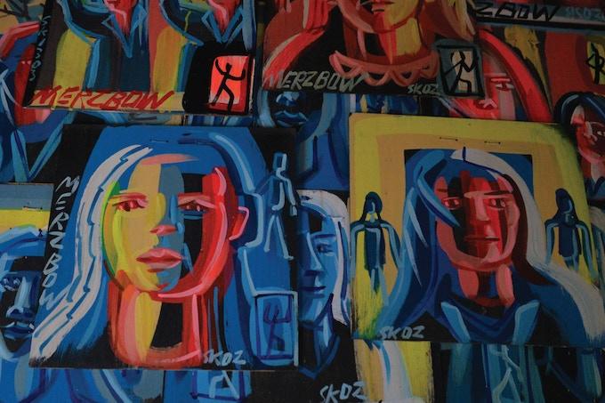 Steve Keene Merzbow painting