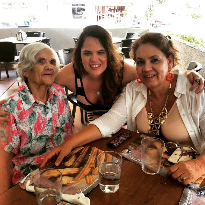 With my mother and grandmother in Panama