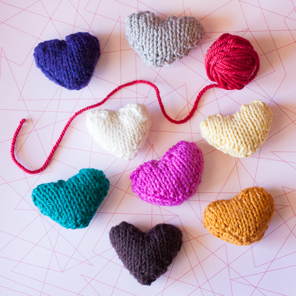 A knitted piece of Vickie's heart. Well, or a heart knitted by Vickie. One or the other. Pattern by Ewe Ewe