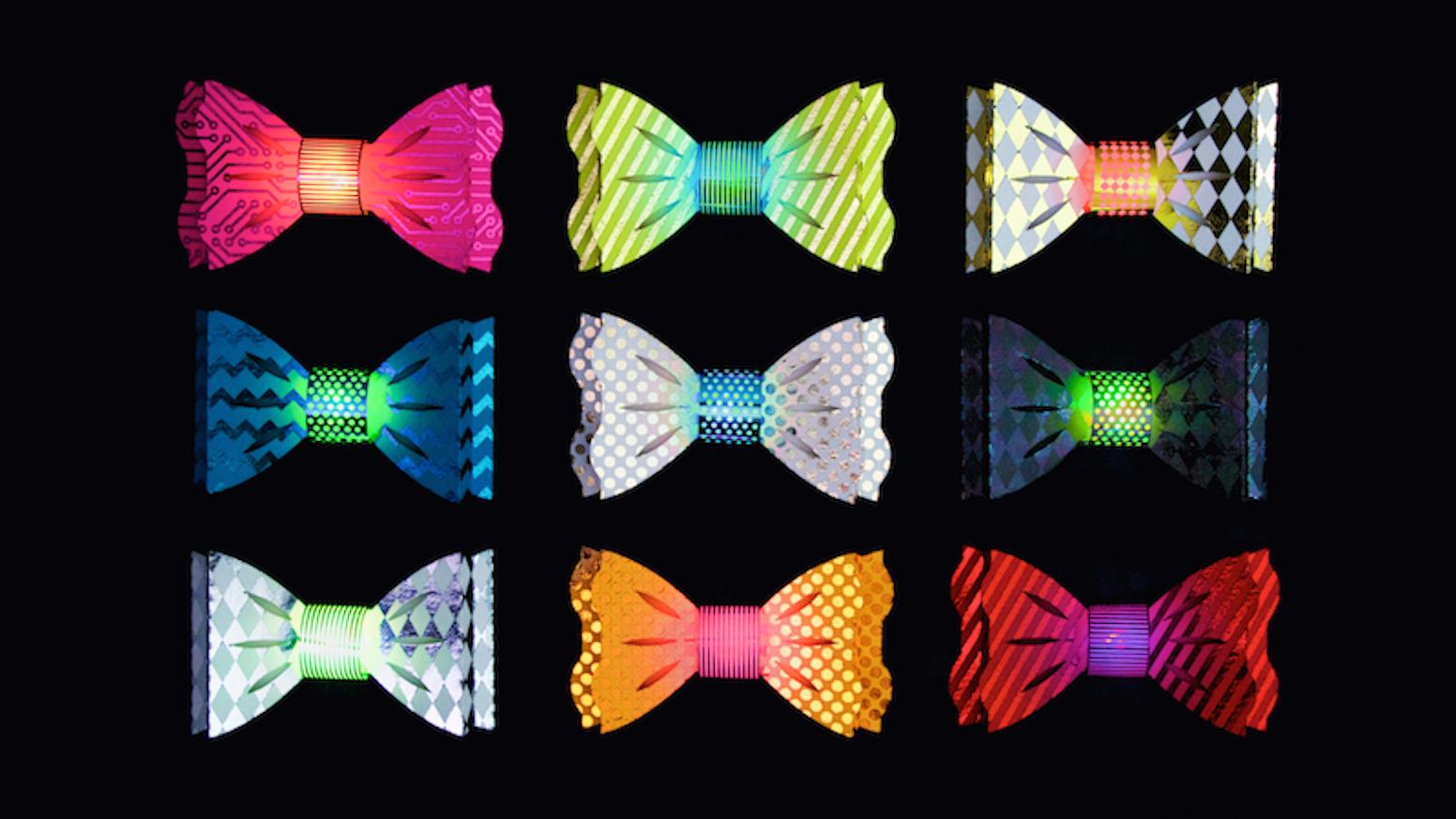 make the world s flashiest bow tie by natasha dzurny kickstarter