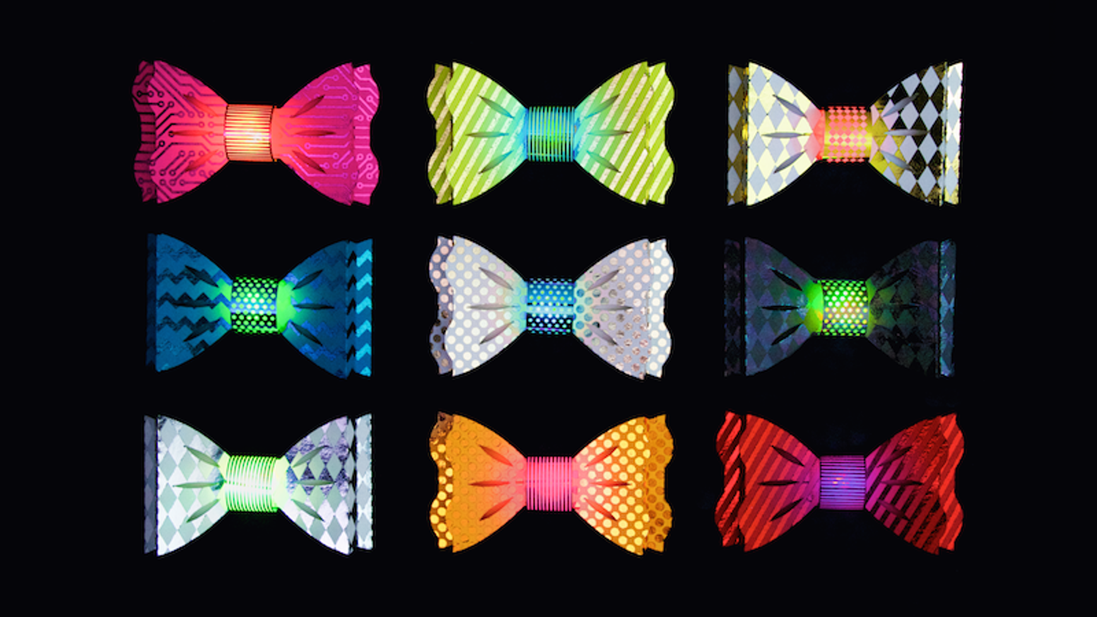 A light-up blinky bow tie kit that makes crafting w/ electronics super cool! It's a DIY craft, a party favor, and wearable tech in one!