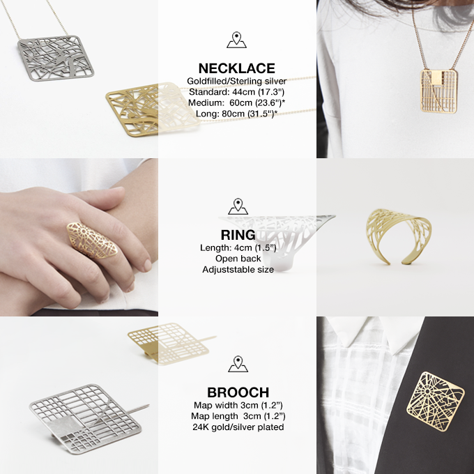YOU ARE HERE: Your Personal Map Jewelry by Talia Sari