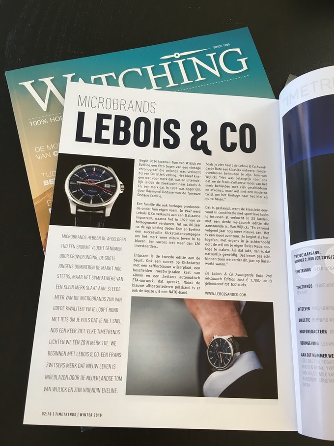 Lebois & Co in TimeTrends magazine