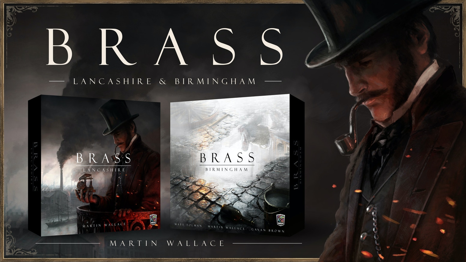 The famous industrial revolution strategy boardgame by Martin Wallace and a finely brewed sequel, Brass: Birmingham