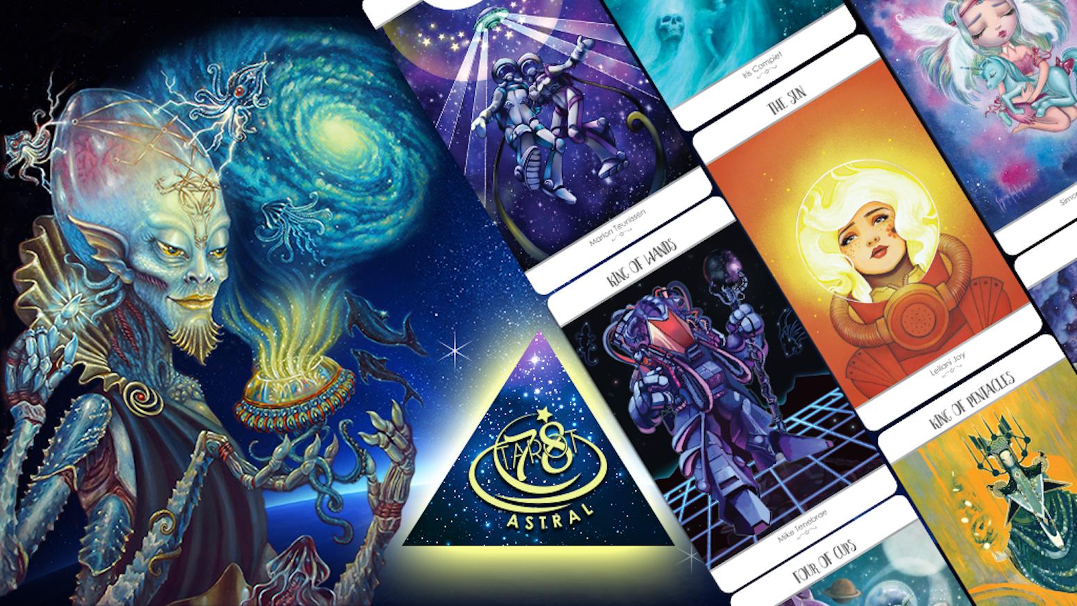 78 Tarot returns to Kickstarter to fund their 4th collaborative Tarot Deck, 78 Tarot Astral - Tarot in Space.