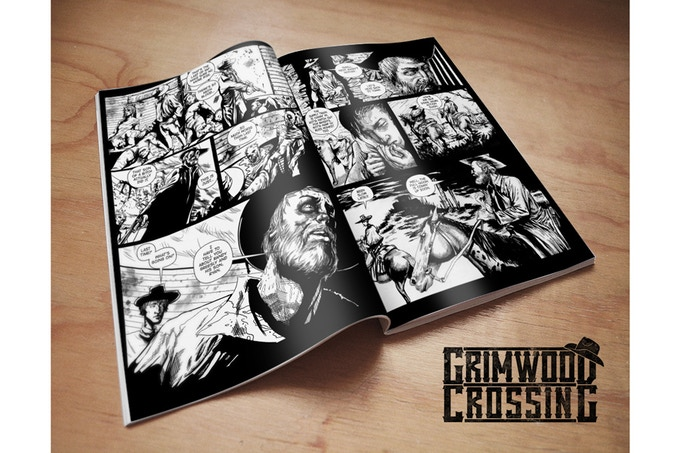 """Standard US comic book (7""""x10.5"""") with black and white interiors."""