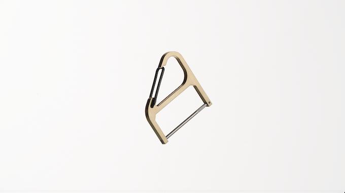 Brass Key Wrangler w/ black spring clip + black keypost