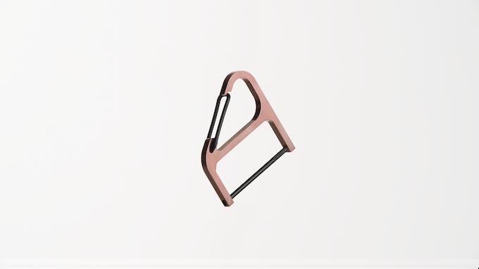 Copper Key Wrangler w/ black spring clip + black key post