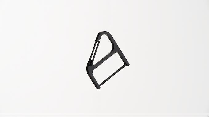 Black Cerakote Key Wrangler w/ black spring clip + key post