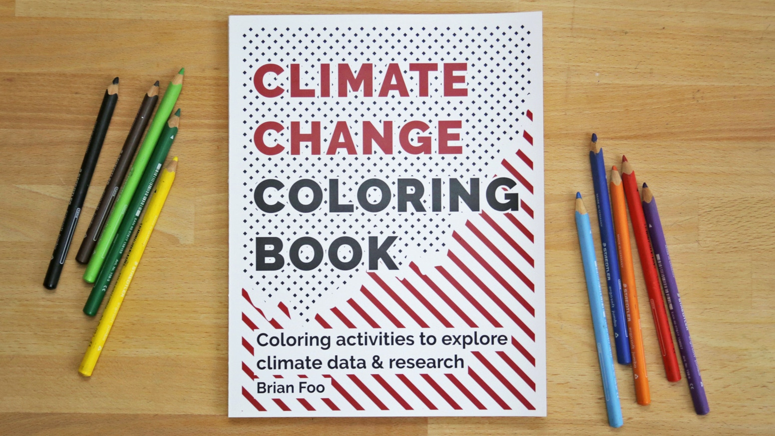 This book contains guided coloring activities that explore scientific research and data related to climate change.