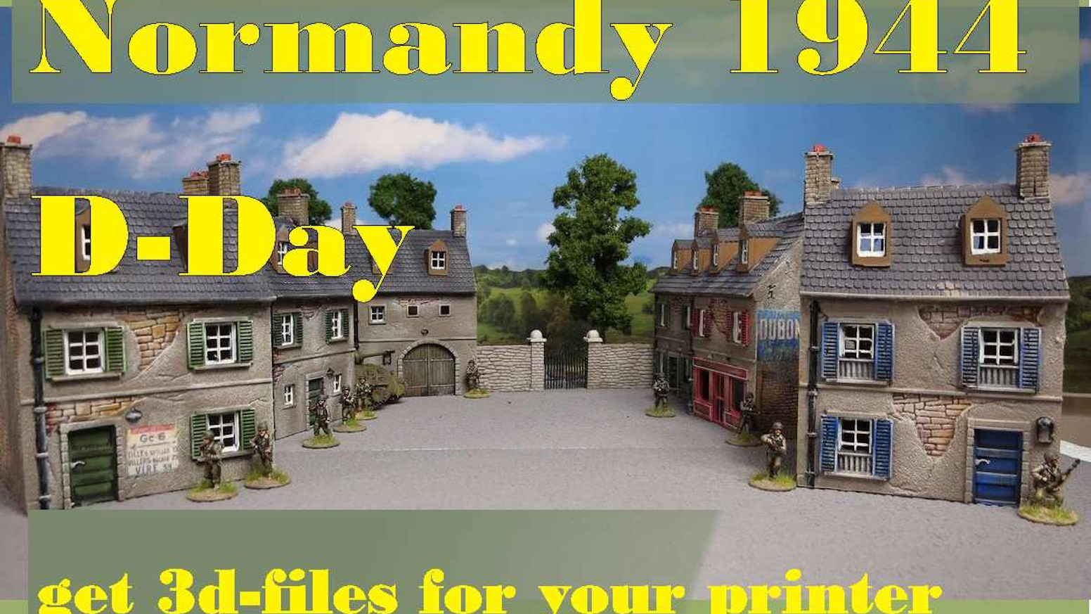 A complete range of STL-files of various Normandy-style buildings, printable on your 3D printer