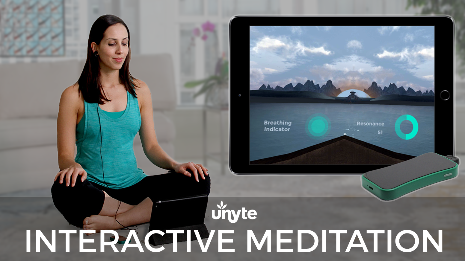 Unyte guides you to calm through a unique combination of biofeedback, meditation, gaming and virtual reality.