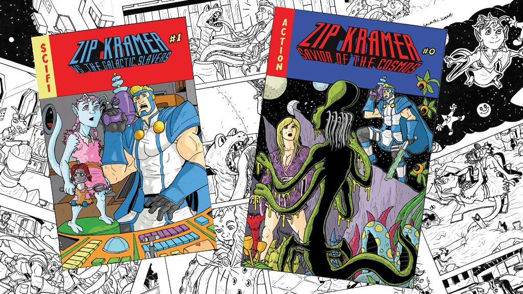 ZIP KRAMER: SAVIOR OF THE COSMOS SCI-FI COMEDY GRAPHIC NOVEL project video thumbnail