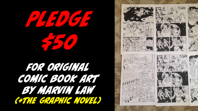 Pledge $50 for Original Comic Art by Marvin + The Graphic Novel