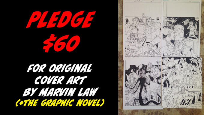 Pledge $60 for Original Cover Art by Marvin + The Graphic Novel