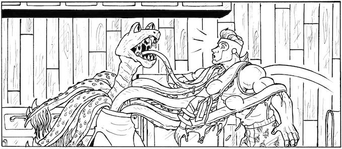 A panel from Zip Kramer's Strange Romance