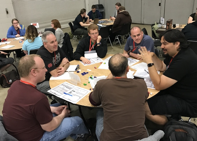 Tables of Gamers, AcadeCon 2016