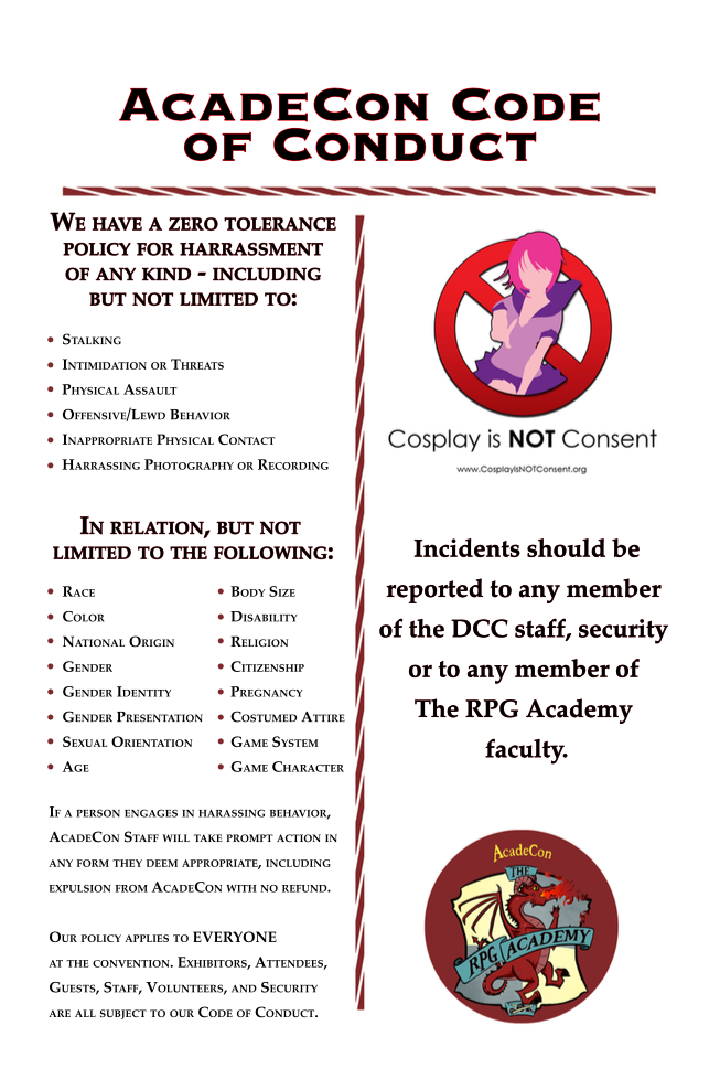 AcadeCon Code of Conduct