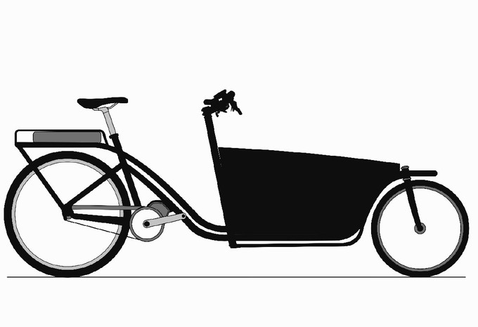 Early concept art for the CERO Acee electric cargo bike.