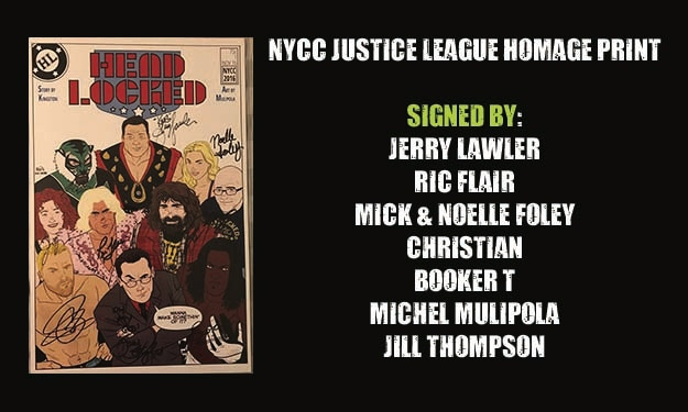 NYCC Signed Justice League Homage Print!