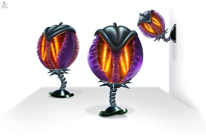 Empty Punchballs filled with shadows, will turn to dark toys.