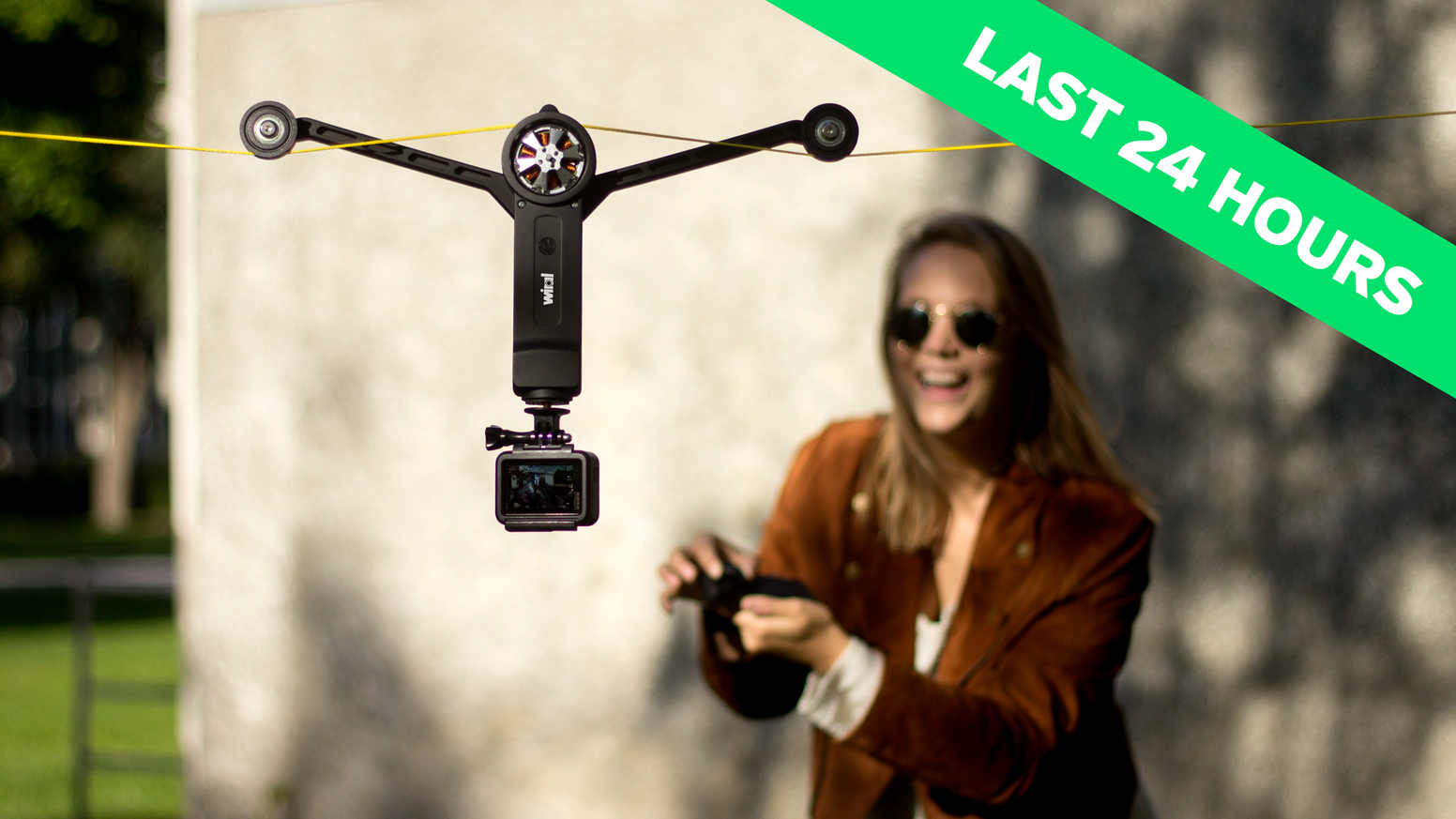 AFFORDABLE and EASY-TO-USE Cable Cam for GoPro and cameras up to 3.3 lbs.   Missed our Kickstarter? We are now live on Indiegogo!