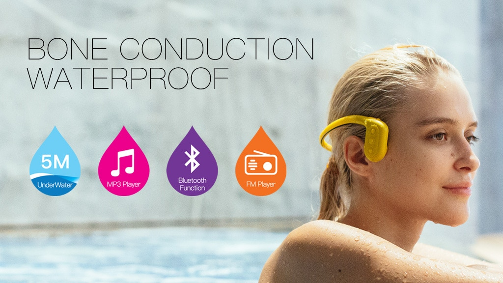 Tayogo Force Conduction Waterproof Bluetooth Headset mp3/FM project video thumbnail