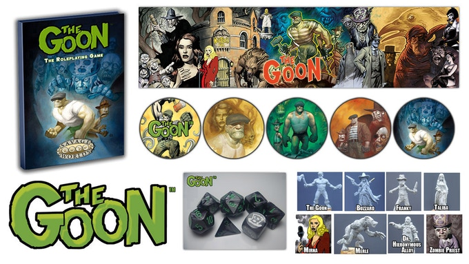 The Goon™ RPG, Bennies, Dice, GM's Screen, and Minis!