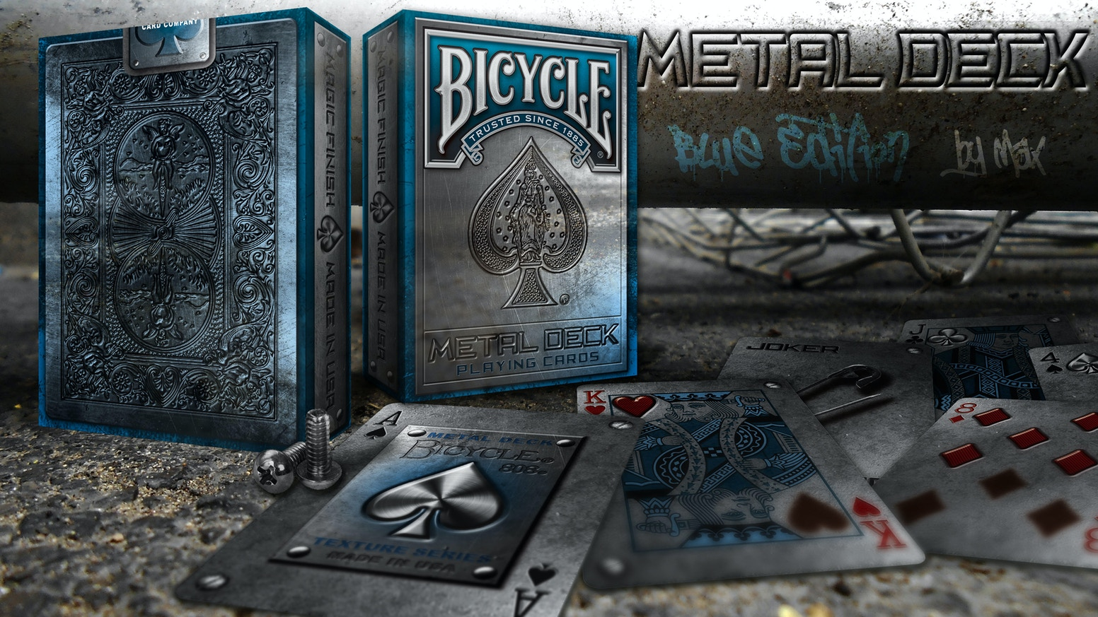 The new unlimited METAL DECK by Max (Max Playing Cards) in the TEXTURE SERIES