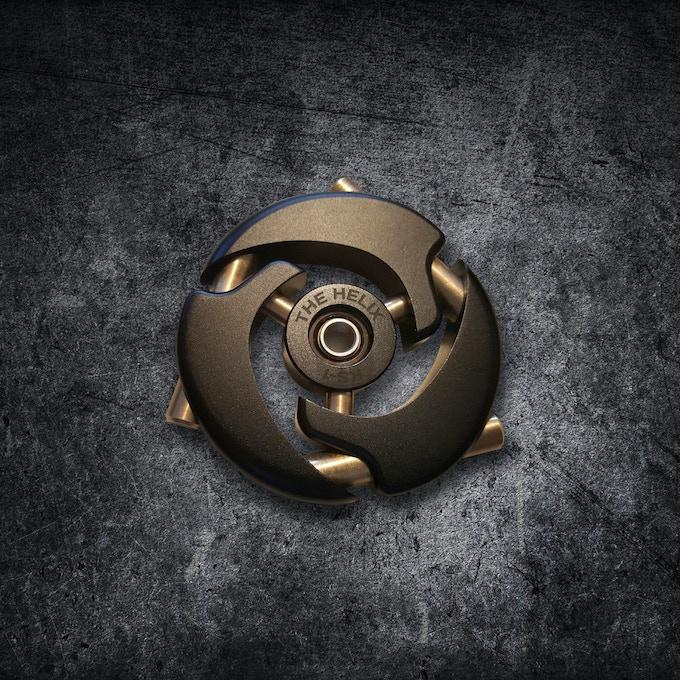 The Helix Fidget Spinner Edc Metal Art By Kris Eliuk